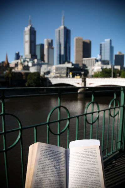 A book in Melbourne