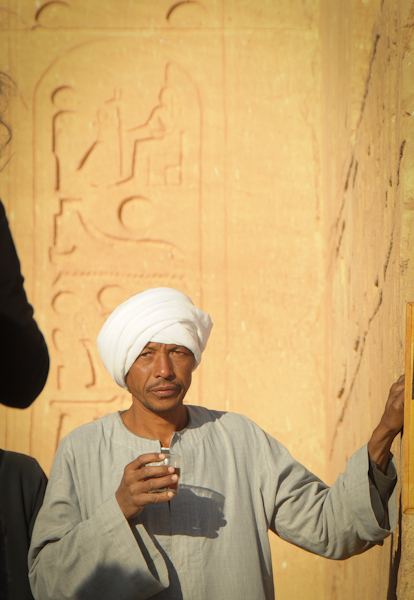 Nubian man at Abu Simbel