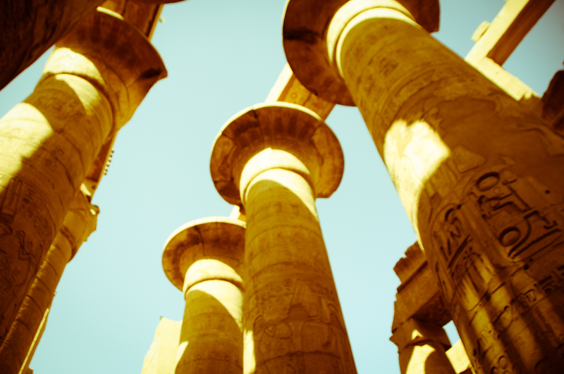 Hypostyle pillars of Karnak