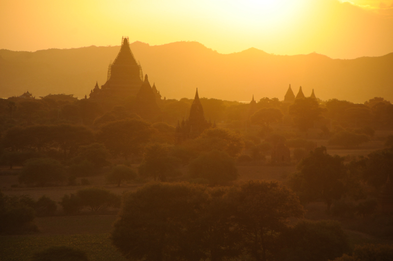 Sunset over Bagan, Burma