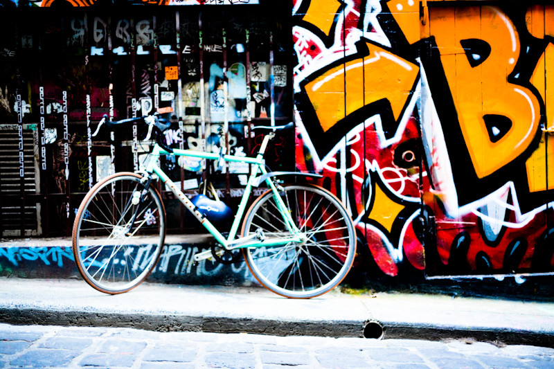 Bike & graffiti, Melbourne
